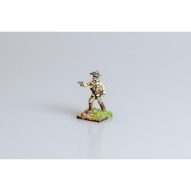 United States Army – Infantry officer firing pistol