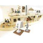 Colonial Wars - Royal Navy ship mounted gun and Maxim gun