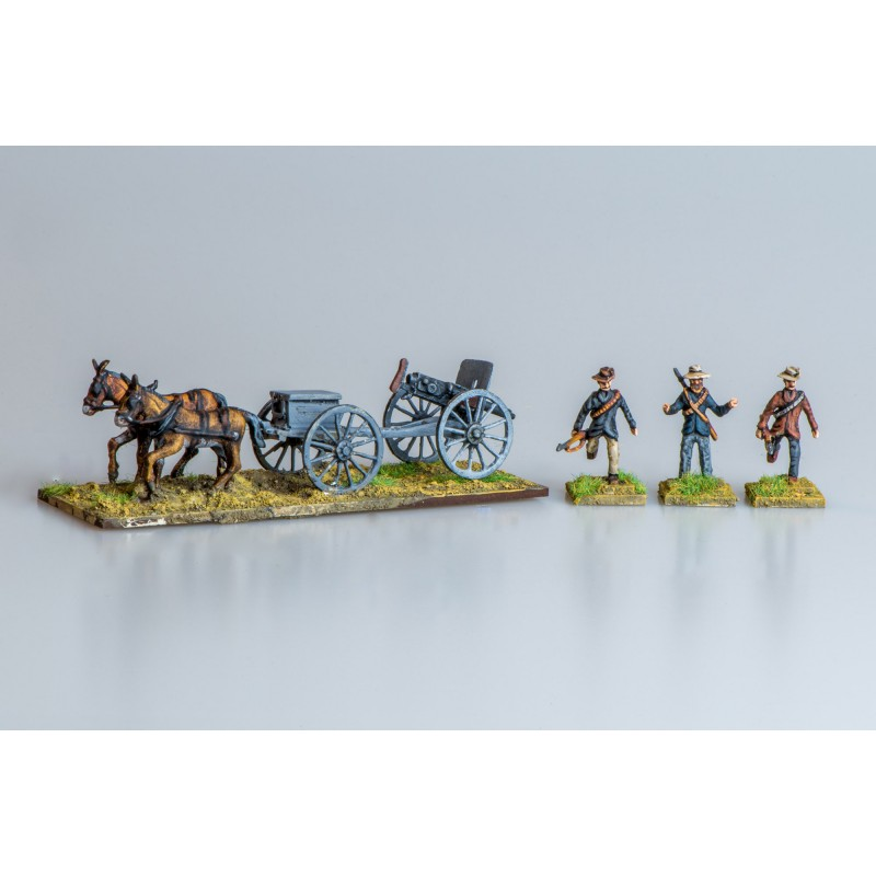 Colonial Wars - Boer four mule team Pom-Pom gun, limber and three crew