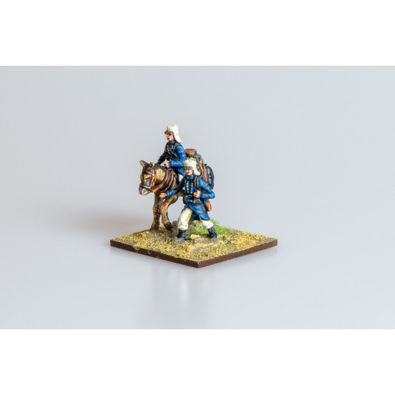 Colonial French Army – FFL mule company (mule and two figures)