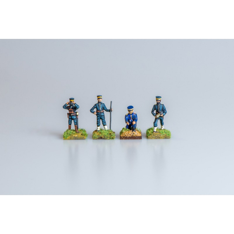 Russo-Japanese War - Artillery and Equipment - Japanese Gun Crew (4 figures)