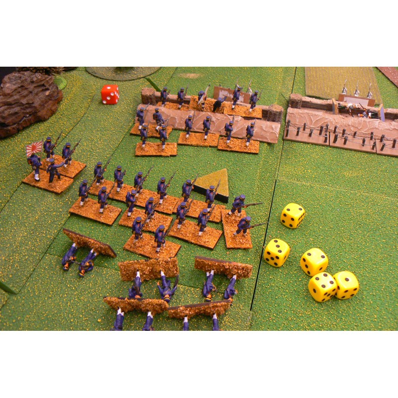 Japanese Army – Infantry advancing