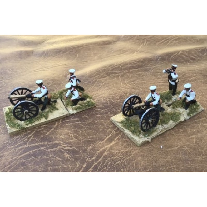 Russo-Japanese War - Artillery and Equipment - Russian Maxim machine gun and three crew