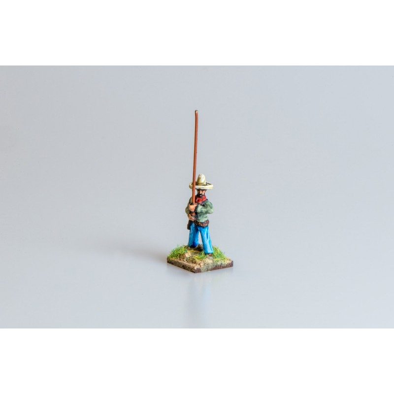 Mexican Army – Infantry standard bearer with separate pikestaff